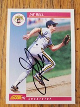 Jay Bell ~ Pittsburgh Pirates ~ 92 Score ~ Signed Autographed Baseball Card - $2.93