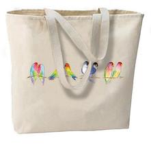 Sweet Love Birds New Jumbo Tote Bag Shop Travel Beach Gifts Events - $19.99