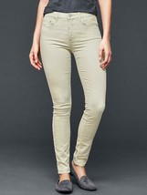 GAP Women Pants Sz 24 00 Corduroy Beige Clay Light Stretch Skinny Belt Loop New - $32.62