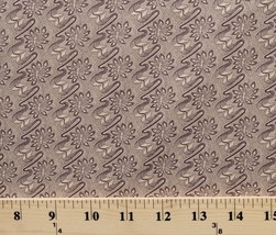 Flowers Swirls Leaves Complements Civil War Cotton Fabric Print By Yard D784.30 - $10.95