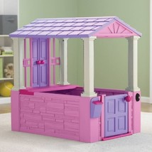 Playhouse For Kids Girls Toddler Toys Cottage Outdoor Indoor Plastic Pla... - $120.77
