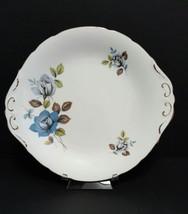 "Royal Standard Blue Rose 10-3/4"" Tab Handle Cake Plate - $17.50"