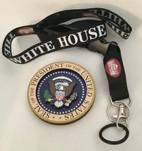 2 WHITE HOUSE PRESIDENT ITEMS = EAGLE SEAL MAGNET & LANYARD w KEY RING EXC - $10.46