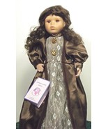 Brown Hair Lovely Doll Beautiful Porcelain Hand-paintedBrown Clothes (B11*) - $9.69