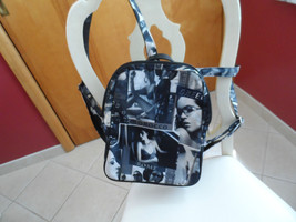 Black backpack with photographs on front from JOrdan accessories - $11.81 CAD