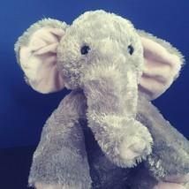"Melissa & Doug Stuffed Elephant 15"" Gray Silky Plush Pink Ears/Feet Soft Cuddly - $15.93"
