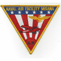 "NAVY NAVAL AIR FACILITY MISAWA JAPAN 5"" EMBROIDERED  PATCH - $23.74"