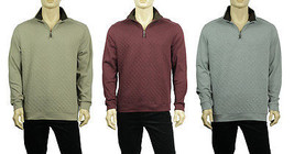 NEW MENS TASSO ELBA QUILTED HALF ZIP MOCK NECK PULLOVER SWEATER $75 - $357,49 MXN