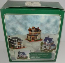 Liberty Falls Collection 4 Set Price House & Wash House Music Gambling Hall - $29.69