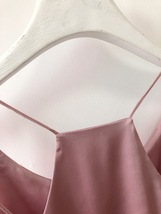 Summer Sleeveless Silky Tanks Top Dusty Pink Party Tanks Wedding Bridesmaid Tops image 14