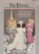 The Bride, Fibre Craft Fashion Doll Clothes Crochet Pattern Booklet FCM325 HTF - $4.95