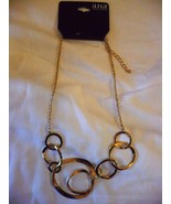 a.n.a.  Necklace Gold Tone Metal Link 18-21 Inch Necklace   NEW - $19.79