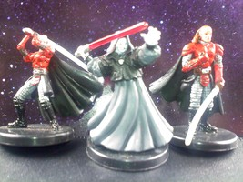 LOT - Star Wars Miniatures Very Rare Emperor Palpatine Sith Lord w/ Knights - $29.88