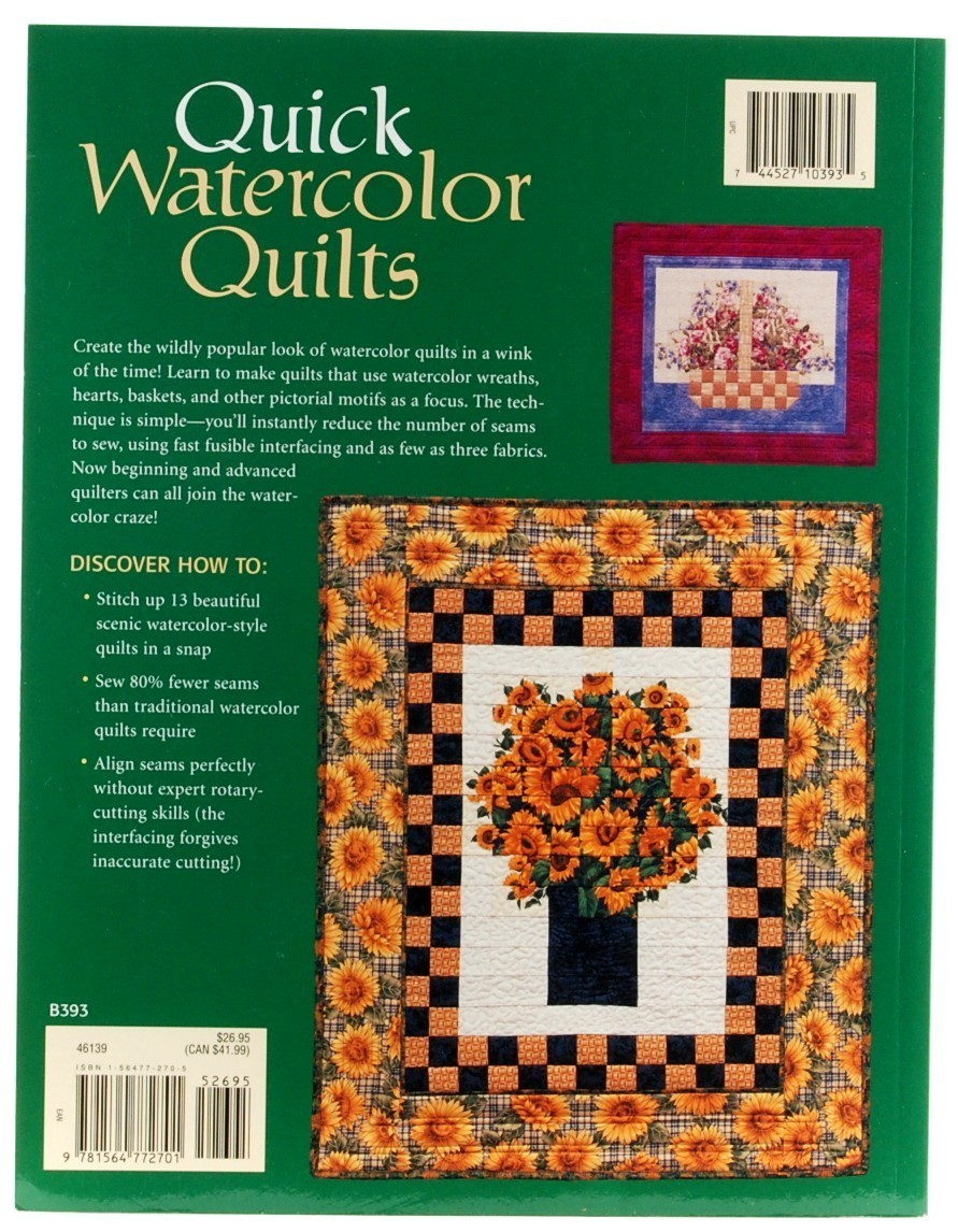 Book Cover Watercolor Quilt : Quick watercolor quilts dina pappas fuse fold stitch