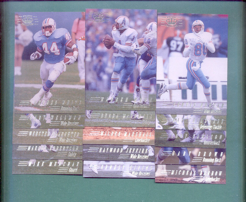 1994 Pacific Collection Houston Oilers Football Team Set