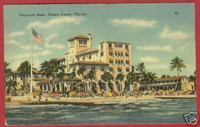 Primary image for Miami Beach FL Pancoast Hotel Linen Postcard BJs