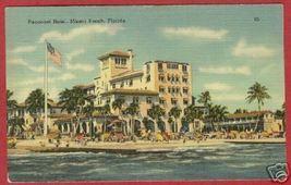 Miami Beach FL Pancoast Hotel Linen Postcard BJs - $6.50
