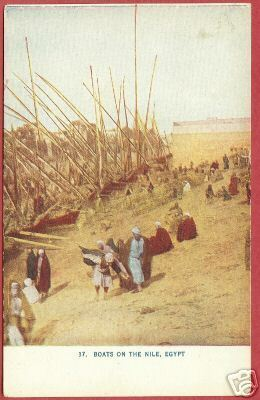 Primary image for EGYPT NILE Boats People Africa Vintage Postcard BJs