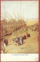 Egypt Nile Boats People Africa Vintage Postcard B Js - $8.00
