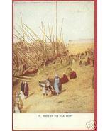 EGYPT NILE Boats People Africa Vintage Postcard BJs - $8.00