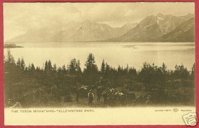 Primary image for YELLOWSTONE NAT'L PARK Teton Mtns Cowboys Haynes WY UDB