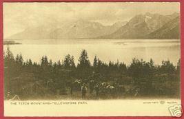 Yellowstone Nat'l Park Teton Mtns Cowboys Haynes Wy Udb - $10.00