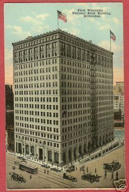 Milwaukee Wisconsin First National Bank WI Postcard BJs