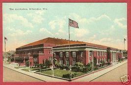 MILWAUKEE WISCONSIN Auditorium WI Postcard BJs - $6.50