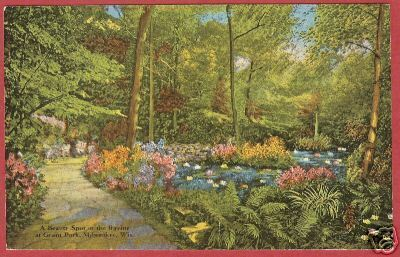 Primary image for MILWAUKEE WI Ravine Grant Park Linen Floral