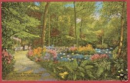 MILWAUKEE WI Ravine Grant Park Linen Floral - $6.50