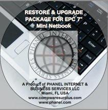 "RESTORE CD & MANUALS FOR EPC 7"" Mini Netbook (•¿•) - $9.99"