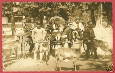 Chinese Rickshaw Deer Men Women AZO RPPC BJs
