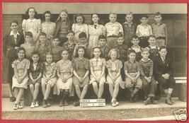 REAL PHOTO Lincoln School Children 1941 St Louis MO - $15.00
