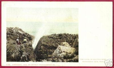 MARBLEHEAD NECK MASSACHUSETTS Churn Spouting Horn 1902