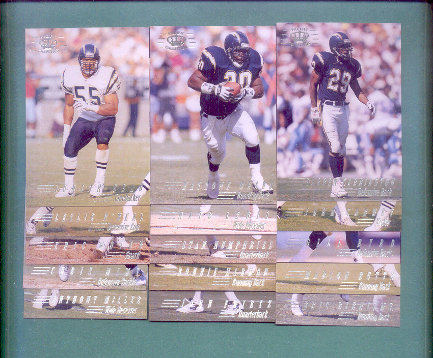 1994 Pacific Collection San Diego Chargers Football Set