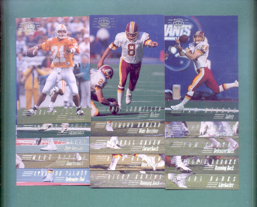1994 Pacific Collection Washington Redskins Football Set