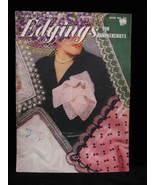 Vtg 1959 Crochet Edgings Handkerchiefs Hairpin Lace Patterns - $9.99