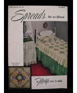 Vintage 1949 Bed Spreads Covers Crochet Patterns Book  - $6.99