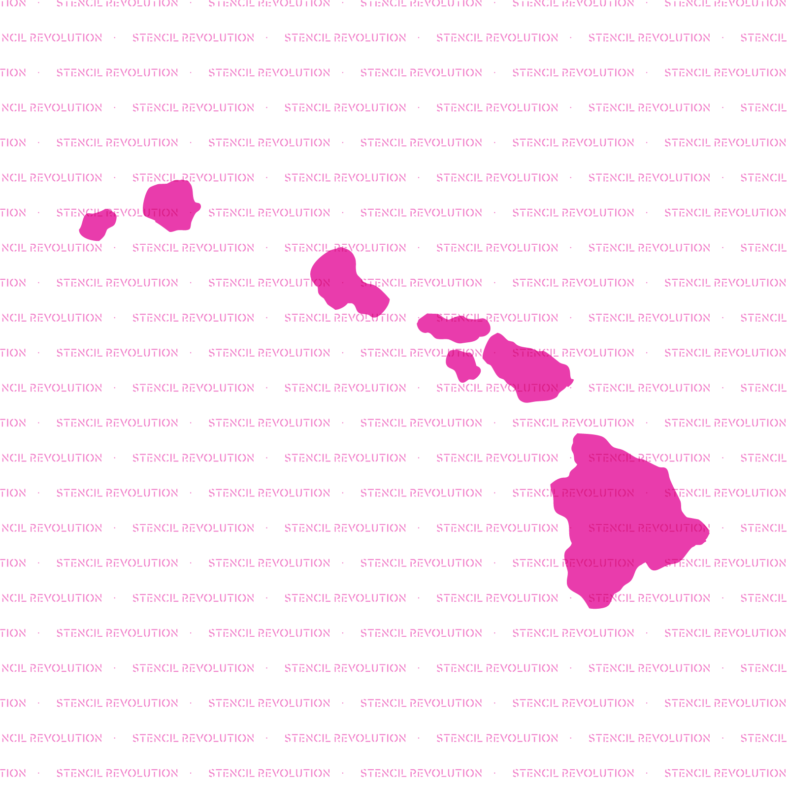 Hawaii State Stencil - Reusable Stencils of Hawaii State in Multiple Sizes
