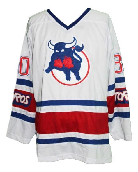 Binkley  30 toronto toros retro hockey jersey white   1