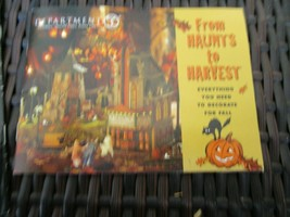 Fifty Six Department 56 Fun Haunts to Harvest Mini Leaflet Brand New Rar... - $4.99