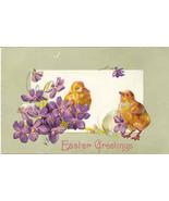 Easter Greetings Vintage Post Card - $3.00