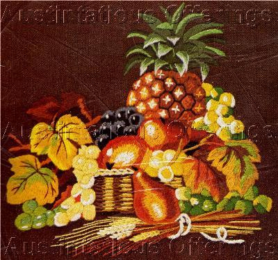 Rare Wilson Tropical Still Life Crewel Embroidery Kit