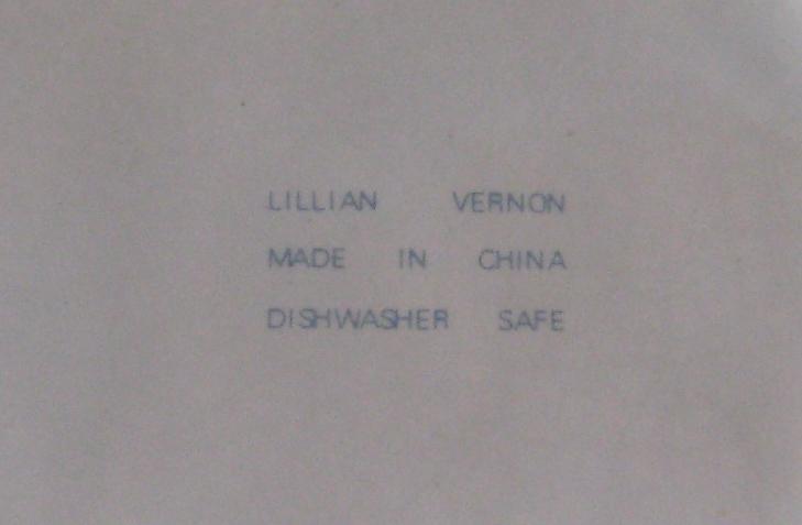 Lillian Vernon Individual Casserole Dish with Lid Blue Spongeware Heart Design