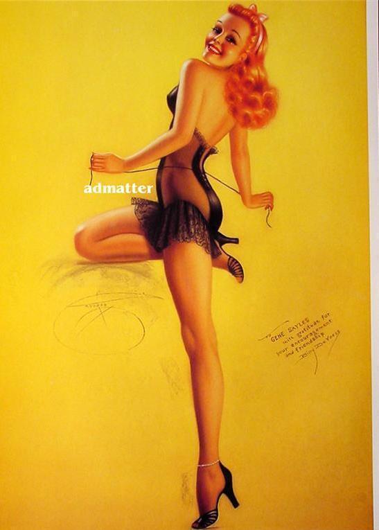 Billy DeVorss Pin-up Girl Poster  Smoking Hot Lingerie!