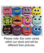 """CUTE MONSTER FACE COIN PURSE 4"""" Plush Fabric Small Change Wallet Bag Zip... - $6.95"""