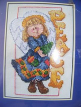 Janlynn Counted Cross Stitch, The Spirit of Christmas, Peace Angel  - $6.32