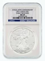 2011 Americana Argento Aquila 25th Anniversario Selezionato da NGC come ... - $39.59