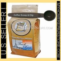 US SELLER ! - GREAT IDEAS - 1 TBSP COFFEE SCOOP & BAG CLIP - BROWN PLAST... - £5.48 GBP