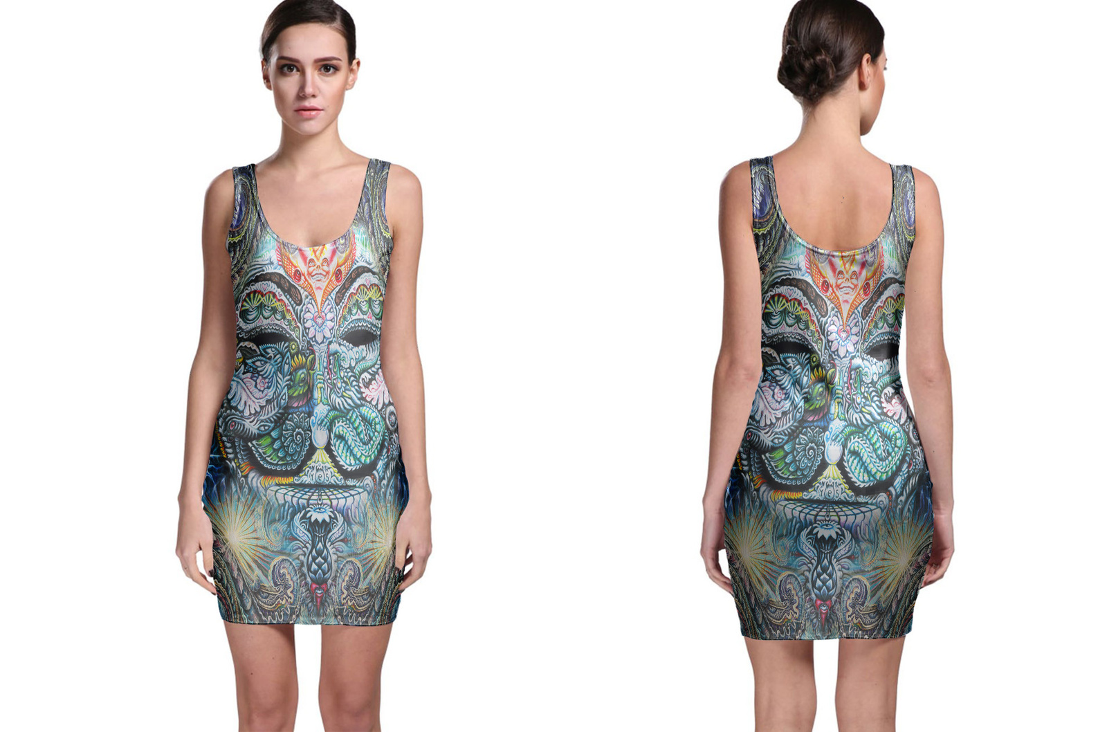 DMT anonymous Psychedelic Hallucinogen Bodycon Dress
